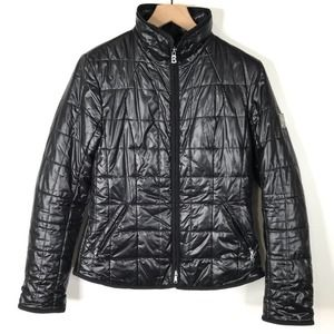 Bogner Glossy Black Full Zip Puffy Jacket Small
